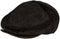 Sakkas Faux Mink Fur Back Flap Ivy Driving Newsboy Cap Hat Adjustable Snap Front#color_Black