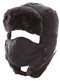 Sakkas Esty Adjustable Chin Buckle Faux Fur Lined Face Mask Unisex Trooper Hat#color_Navy