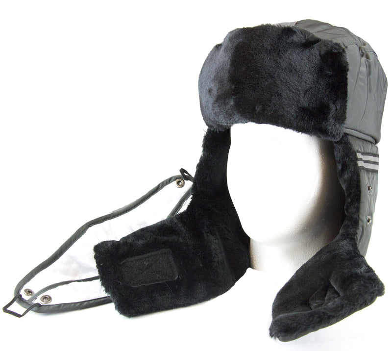 Sakkas Dab Unisex Faux Fur Chin Strap Removable Face Mask Winter Cold Trooper Hat