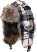 Sakkas Caele Unisex Ear Flap Faux Fur Lined Chin Buckle Strap Winter Trooper Hat#color_Khaki