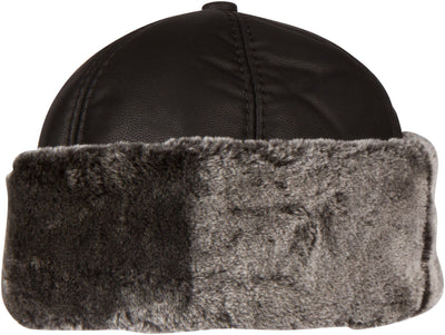 group-Black (Sakkas Luca Sailing Docker Hat Beanie Convertible Water resistant Faux Fur Lined)