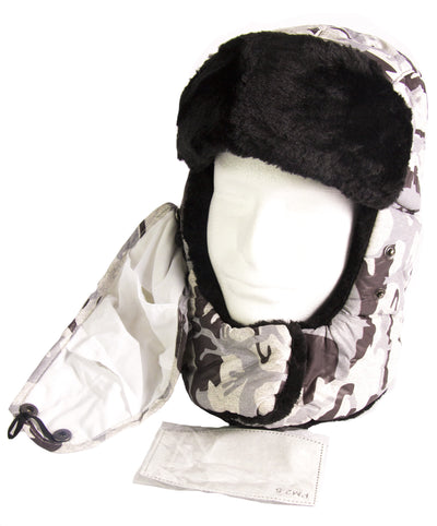 group-18217-Camo-2 (Sakkas Alex Unisex  Ushanka Faux Fur Windproof Trapper Aviator Hat Removable Mask)