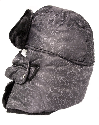 group-18221-gray (Sakkas Alex Unisex  Ushanka Faux Fur Windproof Trapper Aviator Hat Removable Mask)