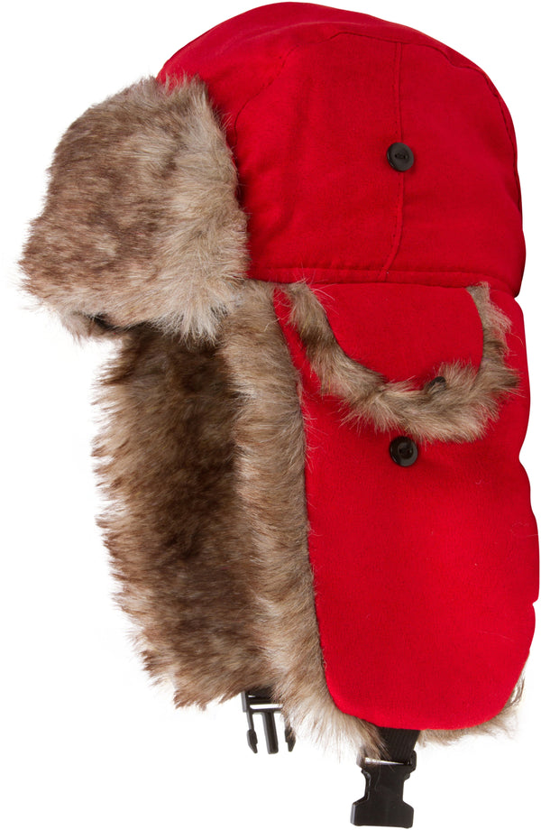 Sakkas Morgan Unisex Faux Fur Trooper Hat