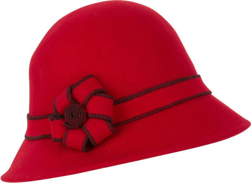 Sakkas Molly Vintage Style Wool Cloche Hat