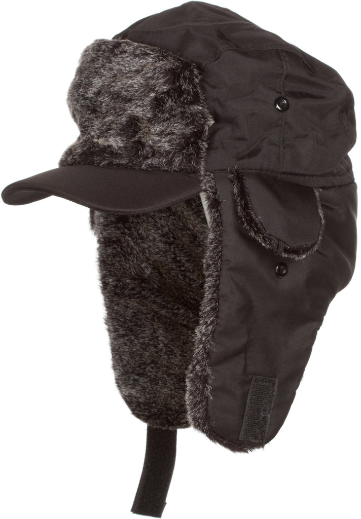 Sakkas Riley Unisex Faux Fur Nylon Trooper Hat