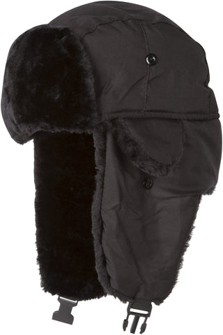 Sakkas Harper Unisex Faux Fur Nylon Trooper Hat