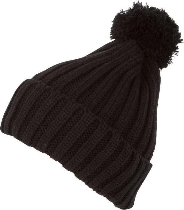 Sakkas Makena Unisex Pom Pom Solid Color Winter Beanie Cap