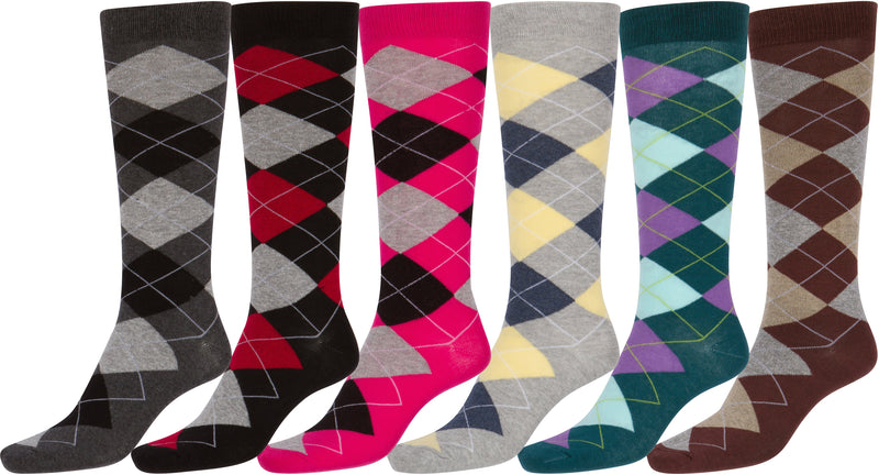 Sakkas Women's Cotton Blend Knee High Socks Assorted Pack