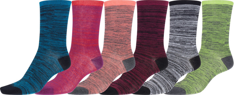 Sakkas Women's Poly Blend Soft and Stretchy Crew Pattern Socks Assorted 6-pack