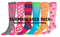 Sakkas Ladies Cute Colorful Design or Solid Knee High Socks Assorted 6-Pack#color_Surprise