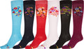 Sakkas Ladies Cute Colorful Design or Solid Knee High Socks Assorted 6-Pack#color_FlowerBunch