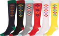 Sakkas Ladies Cute Colorful Design or Solid Knee High Socks Assorted 6-Pack#color_Argyle3