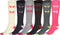 Sakkas Ladies Cute Colorful Design or Solid Knee High Socks Assorted 6-Pack