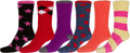 Sakkas Super Soft Anti-Slip Fuzzy Crew Socks Value Assorted 6-Pack#color_16802-pack10