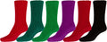 Sakkas Super Soft Anti-Slip Fuzzy Crew Socks Value Assorted 6-Pack#color_16802-pack11