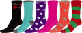 Sakkas Super Soft Anti-Slip Fuzzy Crew Socks Value Assorted 6-Pack#color_16802-pack1