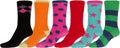 Sakkas Super Soft Anti-Slip Fuzzy Crew Socks Value Assorted 6-Pack#color_16802-pack2