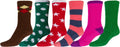 Sakkas Super Soft Anti-Slip Fuzzy Crew Socks Value Assorted 6-Pack#color_16802-pack3