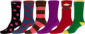 Sakkas Super Soft Anti-Slip Fuzzy Crew Socks Value Assorted 6-Pack#color_16802-pack4