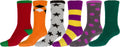 Sakkas Super Soft Anti-Slip Fuzzy Crew Socks Value Assorted 6-Pack#color_16802-pack5