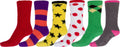 Sakkas Super Soft Anti-Slip Fuzzy Crew Socks Value Assorted 6-Pack#color_16802-pack7