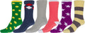 Sakkas Super Soft Anti-Slip Fuzzy Crew Socks Value Assorted 6-Pack#color_16802-pack8