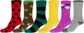 Sakkas Super Soft Anti-Slip Fuzzy Crew Socks Value Assorted 6-Pack#color_16802-pack9