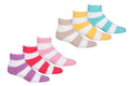 Sakkas Super Soft Anti-Slip Fuzzy Crew Socks Value Assorted 6-Pack#color_Soft Stripe