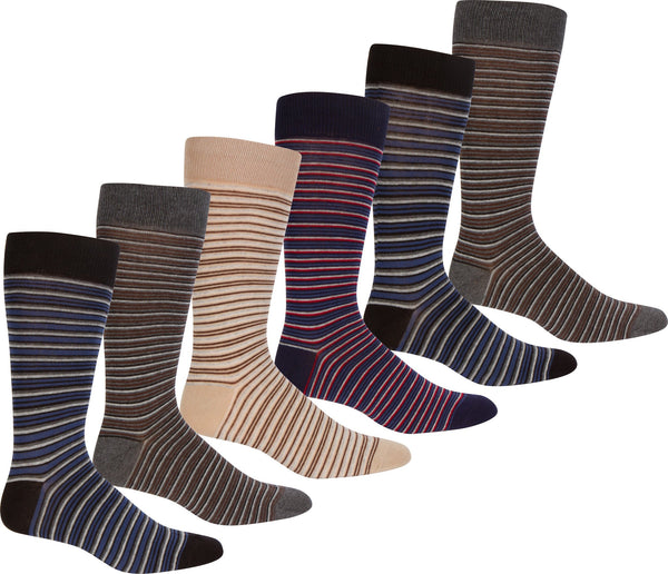 Sakkas Mens Comfortable Stretch Fit Knit Dress Sock Assorted 6-Pack