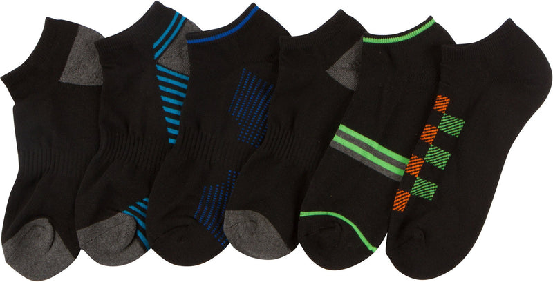 Sakkas Mens Mixed Acrylic Compression Ankle Length Assorted 6-Pack Socks