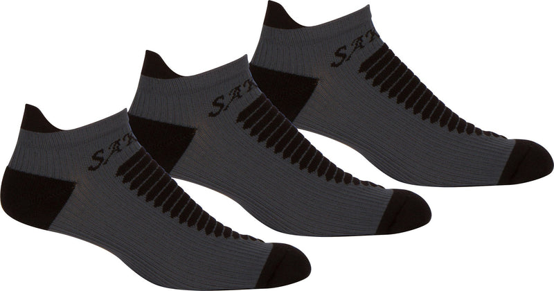 Sakkas Mens Best Pro Low Heavyweight Compression Ankle Performance Socks - 3 Pack
