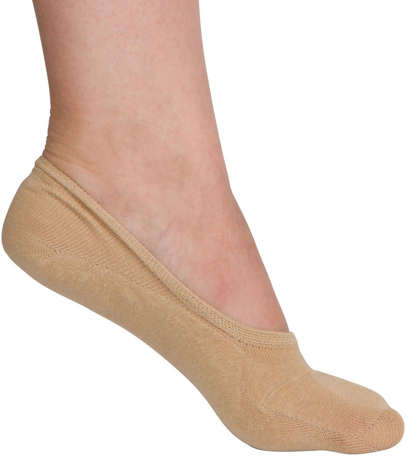 Sakkas Women's Footsies Solid Shoe Foot Invisible Liner No Show Socks - 4 Pack
