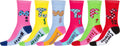 Sakkas Women's Fun Colorful Design Poly Blend Crew Socks Assorted 6-Pack#Color_Days of the Week