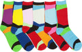 Sakkas Women's Fun Colorful Design Poly Blend Crew Socks Assorted 6-Pack#Color_Block