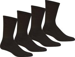 Sakkas Men's Basic Cotton Blend Athletic / Sport Crew Socks Value 4-Pack