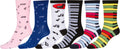 Sakkas Women's Fun Colorful Design Poly Blend Crew Socks Assorted 6-Pack#Color_Piano