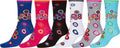 Sakkas Women's Fun Colorful Design Poly Blend Crew Socks Assorted 6-Pack#Color_Bullseye