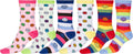 Sakkas Women's Fun Colorful Design Poly Blend Crew Socks Assorted 6-Pack#Color_Smile