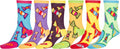 Sakkas Women's Fun Colorful Design Poly Blend Crew Socks Assorted 6-Pack#Color_Candy