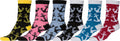 Sakkas Women's Fun Colorful Design Poly Blend Crew Socks Assorted 6-Pack#Color_Anchor