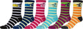 Sakkas Women's Fun Colorful Design Poly Blend Crew Socks Assorted 6-Pack#Color_Mouse
