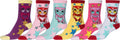 Sakkas Women's Fun Colorful Design Poly Blend Crew Socks Assorted 6-Pack#Color_Owl