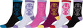 Sakkas Women's Fun Colorful Design Poly Blend Crew Socks Assorted 6-Pack#Color_Butterfly2