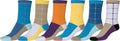 Sakkas Women's Fun Colorful Design Poly Blend Crew Socks Assorted 6-Pack#Color_Square1