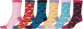 Sakkas Women's Fun Colorful Design Poly Blend Crew Socks Assorted 6-Pack#Color_Bunny