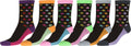 Sakkas Women's Fun Colorful Design Poly Blend Crew Socks Assorted 6-Pack#Color_Star1