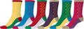 Sakkas Women's Fun Colorful Design Poly Blend Crew Socks Assorted 6-Pack#Color_Double Zag