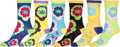 Sakkas Women's Fun Colorful Design Poly Blend Crew Socks Assorted 6-Pack#Color_Flower