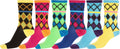 Sakkas Women's Fun Colorful Design Poly Blend Crew Socks Assorted 6-Pack#Color_Diamond